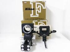 Nikon F BELLOWS FOCUSING ATTEACHMENT PB-4 & Slide Copying Adapter PS-4 FREE SHIP