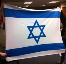 Israel Flag Blankets 24 NIB Fleece Polyester Blue White Soft 60 X 50 Jewish Warm