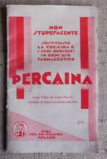 Libretto PERCAINA sostituisce la cocaina e  derivati in uso farmaceutico CIBA