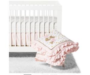 Lambs & Ivy 4pc Confetti Crib Bedding Set - Pink, New