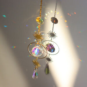 Geometric Sun SunCatchers Light Catcher Crystal Rainbow Maker Window Hanging