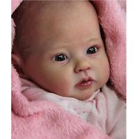 Unpainted Doll Kit DIY Supplies Vinyl Head & 3/4 Limbs for 20'' Reborn Baby Doll