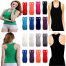 Women Long Vest Gym Stretch Racer back Body con Muscle Girl Ladie Plain Top 8-26