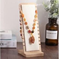 Desktop Jewelry Display Stand White Leather Surface L Shape Necklace Holder