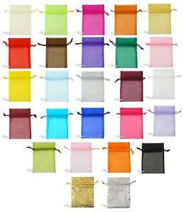 10 Premium Quality Organza Bags 7cm * 10cm Wedding Party Favour / Gift Bag