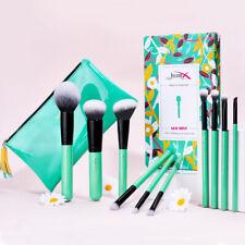 Jessup Makeup Brushes Set 10Pcs Face Blush Eyeshadow Blending Tool Cosmetic Bag