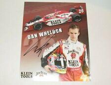Indianapolis 500 winner DAN WHELDON Signed Team Hero Card Jim Beam Klein Tools