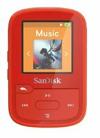 SanDisk Clip Sport Plus 16GB MP3 Player with Bluetooth - Red