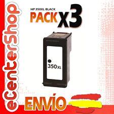 3 Cartuchos Tinta Negra / Negro HP 350XL Reman HP Photosmart C4280