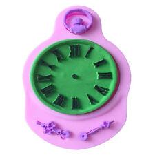 Silicone Fondant Cake Shape Clock Pocket Cupcake Decorating Steam Baking Tool ##
