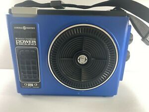 General Electric GE Portable 8 Track Player Power Sound Blue Untested Parts Only