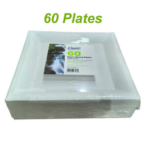 60 Chinet  Strong 24cm Square Disposable Plates Wedding / Party Functions Etc