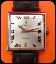CORUM-Admiral's Cup-automatic-vintage-30mm x 30mm-rare-automatic Swiss Made-Rare