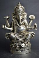 Old China Collectible Tibet Silver Handicraft Elephant Buddha Theme Statue