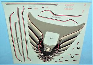 "Vintage DECAL SHEET - 1981 MPC - 1979 Trans Am ""10th ANNIVERSARY"" Model Kit 1/16"