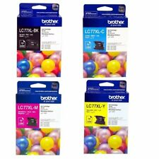 SET Brother Genuine LC-77XLBK LC-77XLC LC-77XLM LC-77XLY Inks For J6510DW J6710D