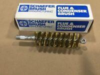"""Schaefer Brass Brush 43639 1 1/2"""" Diameter Single Spiral 1/4 Male #009B24"""