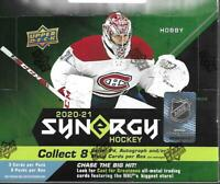 2020-21 Upper Deck Hockey Synergy Hobby Box Sealed - 8 Packs / box LAFRENIERE ??