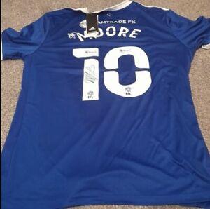 Kieffer Moore Signed Replica Cardiff City 20/21 Football Shirt