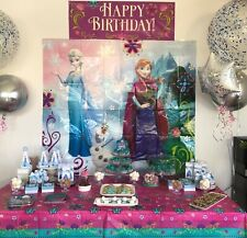 Mega Frozen Kids Party Pack: Decorations / Partyware / Party Bags / Games