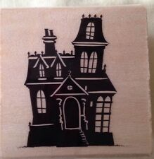 CRAFT SMART*Halloween Rubber Stamp*Trick or Treat*HAUNTED HOUSE*