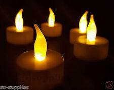 12 x LED Tea light candele senza fiamma sfarfallio BATTERIA Lumini Imitazione Natale