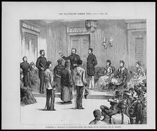 1876 Antique Print - SINGAPORE Investiture Order St Michael St George  (07)
