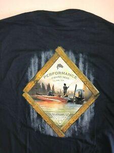 Columbia New PFG Fishing Gear Scenic Short Sleeve T-Shirt Men's Medium Navy