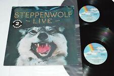 STEPPENWOLF Live 2-LP 1980 MCA Records Canada Psych Rock MCA2-6013 VG+/VG+/VG+