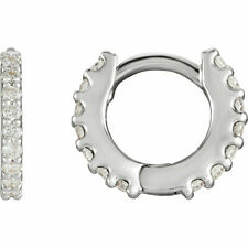 Diamond Hoop Earrings In Platinum (1/4 ct. tw.)