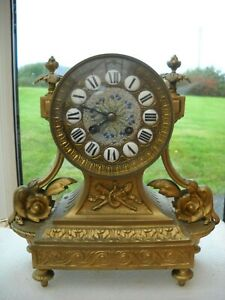 FRENCH CAST BRASS MANTEL CLOCK BY JAPY FRERES IN G.W.O.
