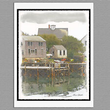 6 Port Clyde Fishing Village Maine Coast Blank Art Note Greeting Cards