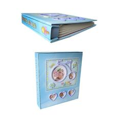 JULIANA /'CHRISTENING DAY/' PHOTO ALBUM BLUE BOOTEE 4 INCH X 6 INCH