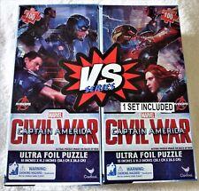 Marvel Captain America Civil War Ultra Foil 2 Puzzle's Set - 100 pieces each NEW