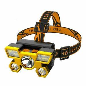 High Brightness Head Torch Headlight Flashlight  USB Rechargeable Head Lamp Fish