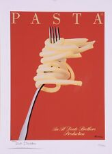 """Limited Ed. Hand Signed Print """"Pasta"""" by Razzia 151/995"""