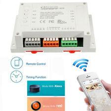 4CH 4 Channel WiFi Wireless Smart Remote Timer Switch Works With Alexa & Nest