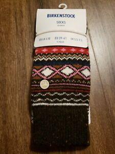 Birkenstock Fashion Ethno Socks Women's sz 8 - 10 New Dark Brown