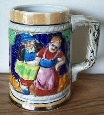 Vintage Ceramic Beer Bier Stein German Style - Hp 3D Design - Japan