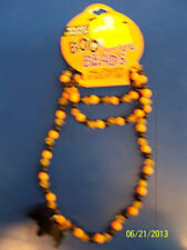 Halloween Carnival Party Favor Jewelry Beaded Bracelet & Necklace Set - Flat Bat