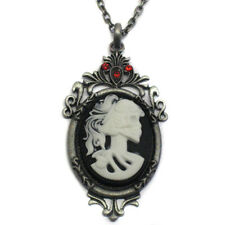 Gothic Sugar Skull Lady Cameo Nacklace