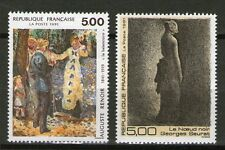 TIMBRES 2692-2693 NEUF XX LUXE - OEUVRES D' AUGUSTE RENOIR ET GEORGES SEURAT