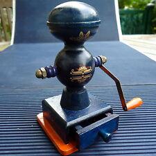 Pompe Incendie XIXème Miniature Bois Tiroir USA 11 x 10 Cm Peint & Décoré Main