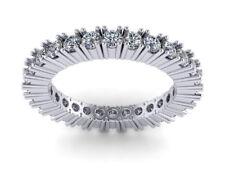 1.40Ct Diamond Classic Eternity Anniversary Band Ring 14k White Gold H SI2 Prong