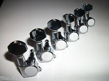 NEW Mécaniques STANDARD 6 en Ligne -chrome - pour guitare