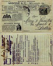 REGNO-MIGONE&C MILANO 134 CHININA/ANTICANIZIE-30c(185) PERFIN 25.11.1929