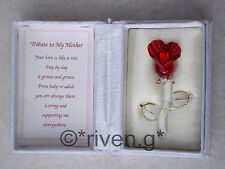 Mothers Day Gift@Red Rose@Floral Box@LOVE MAM Verse@Glass@Gold@SPECIAL@MUM@MUMMY