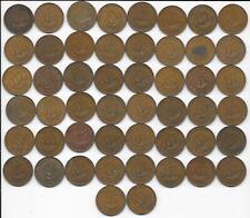 Gift Idea Flea Market Coins Lot: 50 Great Britain Uk Lsd Half Penny George Vi