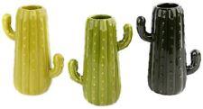 Jarrón de cerámica plantas novedad Flor de Cactus Pluma Olla ~ Color varían