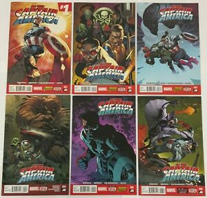 All-New Captain America Complete 6 Issue Series Set 1 2 3 4 5 6 Sam Wilson